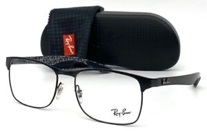 Ray Ban Carbon Fiber RX8416 2503 Matte Black / Demo Lens  55mm Eyeglasses RB8416