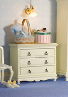 1/12 Scale Dolls House Emporium French Style White Chest of Drawers 5693