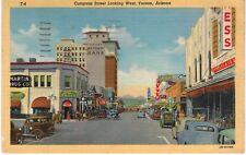 Postcard AZ Tuscon Congress Street Looking West 1946