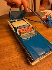 Xtreme Rare Ford Fairlane 500 Convertible Blue Yachio Vintage Japan Tin  Toy Car