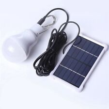 20W LED Portable Solar Panel Bulb Light Outdoor Camping Fishing Tent Lamp Light