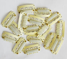 50Pcs 32mm Beige U Shape Snap Metal Clips For Hair Extensions Weft Clip-on Wig