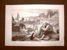 Moda e costume in Danimarca nel 1863 Pescatori + Chiesa San Salvatore Isola Amac
