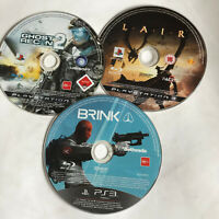 3 x PS3 Action Games Disc Bundle Brink Ghost Recon 2 Lair Playstation 3