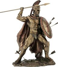 Leonidas the King of Sparta Cold Cast Bronze Statue /Sculpture 33cm / 12.99in
