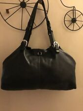 LUCKY BRAND Soft Slouchy Black Leather Shoulder Bag