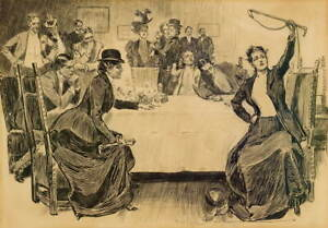 Charles Dana Gibson The Story of the Hunt Poster Giclee Canvas Print