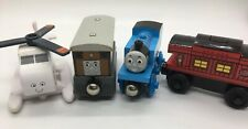 Wooden Railway EUC! Thomas Toby Harold Music Caboose SOUND Train Starter Set Lot