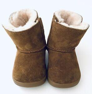 New Authentic Ugg Keelan Chestnut 1096089i Infant  Sheepskin Boot SZ 02/03