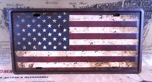 USA Country Flag Sign CAR PLATE Vintage Tin Metal Signs Bar pub home Wall Decor