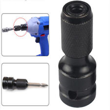1/2in Drive To 1/4in Hex Shank Converter Quick Release Screwdriver Bit Adapter