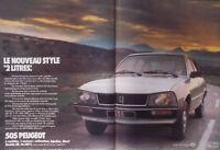 PUBLICITÉ DE PRESSE 1979 PEUGEOT 505 NOUVEAU STYLE 2 LITRES - ADVERTISING