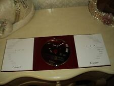 CARTIER WATCH CERTIFICATE OF AUTHENTICITY-BOOKLET-MANUAL-CD-FOLDER*COLLECTIBLE