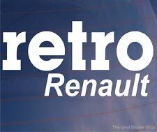 RETRO RENAULT Classic Vintage Car/Van/Window/Bumper Novelty Vinyl Sticker/Decal