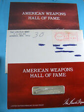 SHARPS CARBINE 1853 RIFLE GUN WEAPONS HALL FAME SILVER BAR MINT SEALED PAPERS