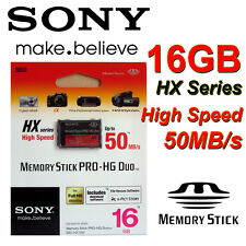 Genuine SONY 16 GB Memory Stick PRO-HG Duo HX 50MB/S for Sony PSP Camera RETAIL
