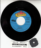 """LOUIS ARMSTRONG Hello Dolly & Blueberry Hill 7"""" 45 record + juke box strip NEW"""