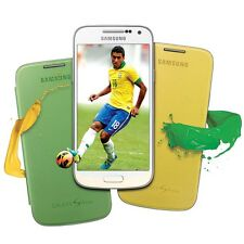 Twin Pack of Samsung Galaxy S4 Mini Flip Cover Cases EF-F1919B Green & Yellow
