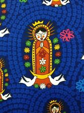 FF78 Our Lady Of Guadalupe Mary Folk Art Mexico Religion Quilting Cotton Fabric