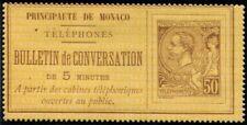 Lot N°5142 Monaco N°1 Timbre Téléphone Neuf * Qualité TB