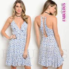 Lace Up Sleeveless Dresses A-Line