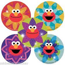 Sesame Street Stickers x 5 - Birthday Party - Elmo Stickers - Glitter Stickers