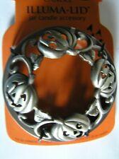 Yankee Candle Halloween Jack O Lanterns Pumpkins Illuma Lid Topper Silver New