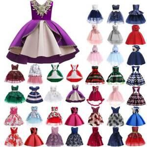 Girl Kids Formal Wedding Birthday Party Gown Flower Princess Tutu Dress Costume