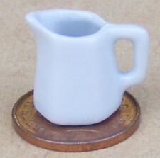 1:12 Scale Small 6 Sided White Ceramic Jug Tumdee Dolls House Kitchen Milk W82