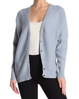 T Tahari Womens Sweaters Blue Size XS Cardigan Ribbed Button-Front $78- 031