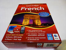 """NEW SEALED  """"LEARN IT NOW 'FRENCH PREMIER"""" for PC/MAC, SOFTWARE,MP3 & IPHONE"""