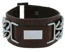 Dolce & Gabbana Jewels DJ0094 Women's Brown Adjustable Leather Cuff
