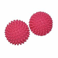 Dryer Balls set of 2 pcs pink softens fabric reduces drying time reusable round