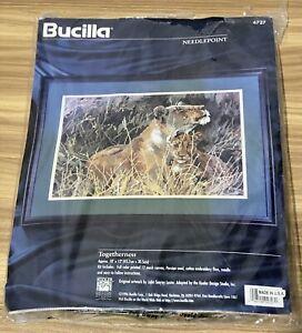 1996 Bucilla Needlepoint Kit Togetherness Lion Cub Beautiful Unopened New 18x12