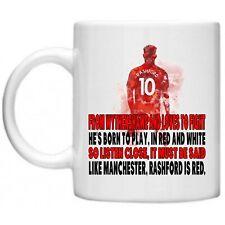 Marcus Rashford Chants Manchester 10 oz Mug Cup  Gift United Footbal United