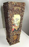 extravagante vase vintage mit fenster ca 60er jahre einwandfrei