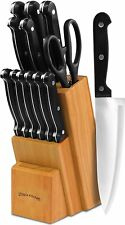 Kitchen Knife Set, Steel Chef Cuisinart Knives Piece Professional Blade ..