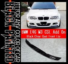 CARKING GLOSSY BLACK PAINTED 01-06 BMW E46 M3 CSL look typ II FRONT LIP SPOILER