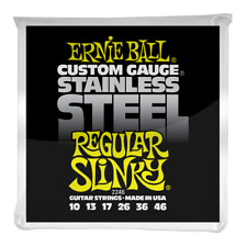 Ernie Ball Regular Slinky Stainless Steel Wound Electric Guitar Strings 10-46