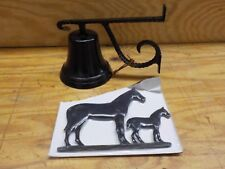 Montague Metal Products Cast Bell with Black Mare and Colt