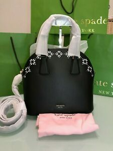 Kate Spade Sylvia Perforated Large Satchel $328 Black