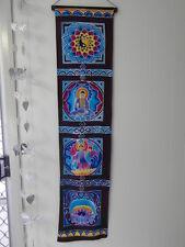 "Inspirational Balinese affirmation hand painted ""Balance Goddess"" wall hanging"