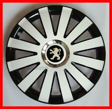 "14"" Wheel trims for Peugeot Partner 206 207 107 306 106 4 x14""  black/white"