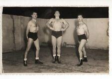 MUSCULAR ATHLETIC MEN ON CIRCUS ACROBATIC GYMNASTICS PHOTO GAY Real Photo #16