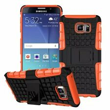 Orange Strong Tradesman Dual Layer Tough Case Cover for Samsung Galaxy Note 5