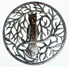 Owl Metal Decor Wall Hanging Steel Oil Drums Wall Art Metal Oil Drums Haiti 24""