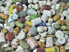 Porcelain Beads Mixed Colors, Mixed Shapes, Mixed Sizes 1/4 POUND