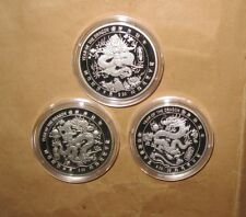 2000 LIBERIA MILLENNIUM Lunar Yr.DRAGON $20 D PROOF SILVER Coin SET with COA & B