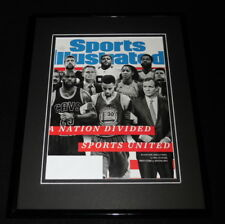 Lebron James Steph Curry Framed ORIGINAL 2017 Sports Illustrated Magazine Cover