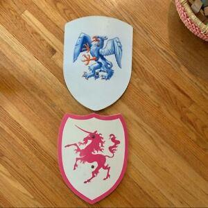 Medieval Wooden shield kids Montessori pretend play lot of 2